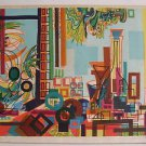 Yona Lotan (Israeli - French, 1926-1998) Hand Signed Lithograph