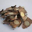 Lot of 24 Vintage marvelous Israel HOLYLAND brass miniature photo holders