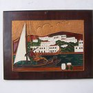 Marvelous wall decor Enamel painting attached to heavy board