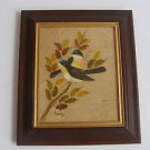 Vintage Marvelous Hand Painted Tree Leaf Birds Art Painting