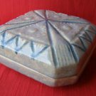 Israel Hand Crafted Glazed Ceramic Box 1950's,60's