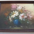 Marvelous floral oil on canvas painting