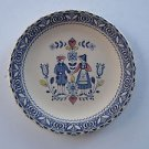 Johnson Brothers Staffordshire OLD GRANITE HEARTS & FLOWERS plate ENGLAND
