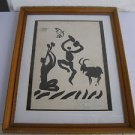 Pablo Picasso (Spanish, 1881–1973) Dedicated Print by the Artist 1970 - RARE