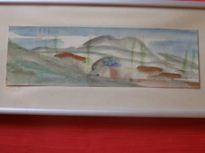 Safed , Israeli Artist marvelous watercolor on paper painting