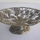 Spectacular Fruit Candies Pewter Footed Bowl