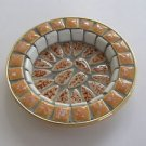 Israel PM hand made Mosaics copper base small dish