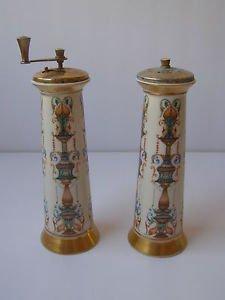 Vintage Lenox Salt & Pepper Mill Set Shakers
