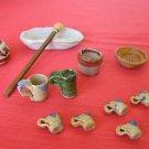 Mexican Folk Art Pottery Lot of 12 Miniature Marvelous Items