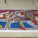 After Menashe Kadishman (Israeli, 1932 - 2015} Textile Texture Abstract Art