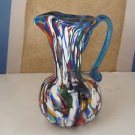 Vintage Marvelous Italian Murano Colorful Art Glass Vase BEAUTIFUL !!!