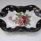 Vintage Marvelous Handpainted Ceramic Porcelain M Z Czech Servicing Plate