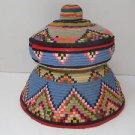 Spectacular Rare Vintage Hand Woven Wool Bedouin Primitive Pitta Storage Box