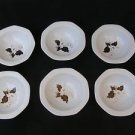 Vintage Marvelous Israel Naaman Ceramic Porcelain Set of 6 Plates
