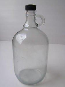 Vintage Marvelous Decorative Clear Glass Wine Bottle