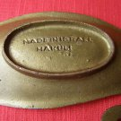 Hakuli Israel Jewish Judaica Brass Ashtray 1950's, 60's