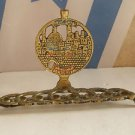 Vintage Marvelous Israel Jewish Judaica, HOLY LAND Brass Hanukkah Lamp Menorah