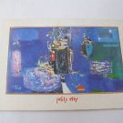 Nachum Gutman, SHIPS IN THE HARBOUR Israel Happy New Year Greeting Card