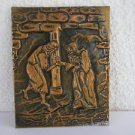 Vintage Marvelous Hand Made Brass Hammered Wall Decor Relief Art Painting