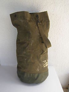 Genuine Vintage Israel IDF Army Zahal Military Green Canvas Large Kitbag 1970's