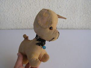 Antique Primitive Marvelous Stuffed Puppy Dog - LOOKING FOR A NEW LOVING HOME