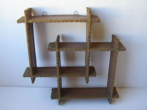 Marvelous vintage wooden wall hanging dollhouse 1960's, 70's