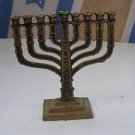 Vintage Israel Jewish Judaica, Karshi Brass Marvelous Hanukkah Lamp Menorah