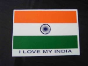 Brand New Pair Of Super Quality Classic Indian Flag Stickers/Decals