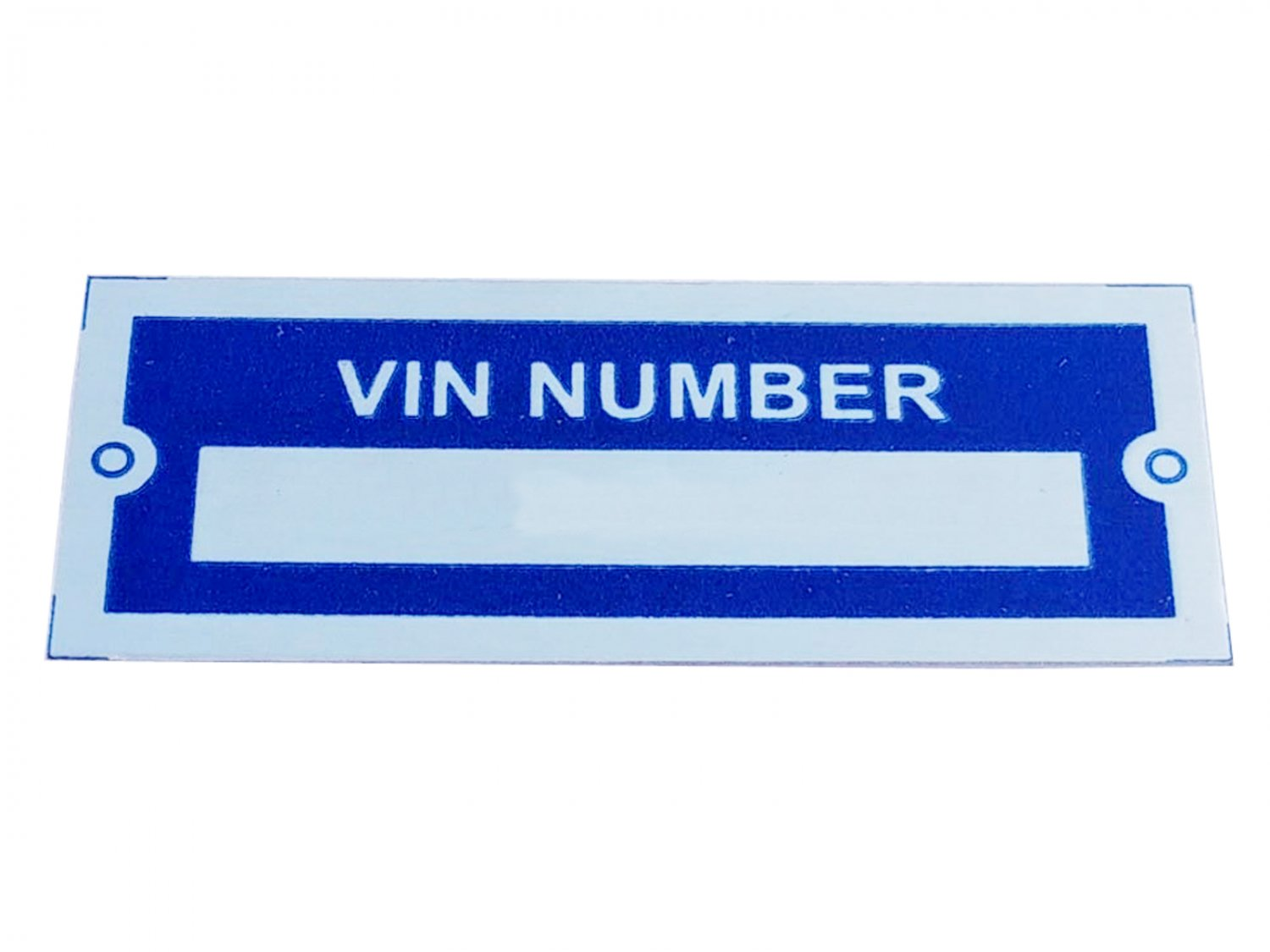 New Aluminium Number Blank VIN NUMBER Blue Plate Data/Tag Small
