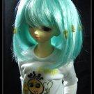 Mini Super Dollfie MSD Lake Blue Little Braids 7-8 Wig