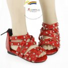 MSD Dollfie Stud Gladiator Sandals Shoes Patent Red