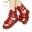 Dollfie SD Girl Shoes Fishbone Roma Sandals Red