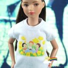 "Releaserain Doll Clothes White T-Shirt Picnic for 12"" Marley"