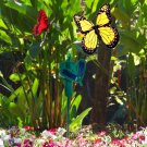 HQRP 2 Solar Powered Flying Fluttering Butterflies Yellow Red for Garden Plants
