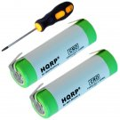 2x HQRP Battery for Braun 6515 6520 type 5705, 6550 type 5704, 6525 type 5703