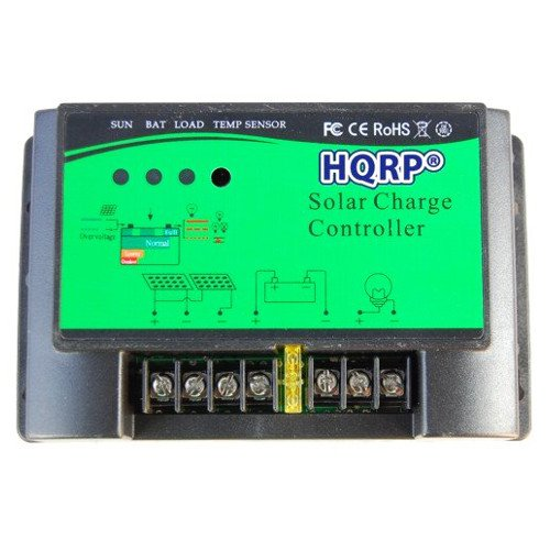 HQRP 30A 12/24V PWM Solar Panel Power Charge 450W/900W Controller Regulator