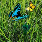 HQRP 2 Solar Powered Flying Fluttering Butterflies Yellow Blue for Garden Plants