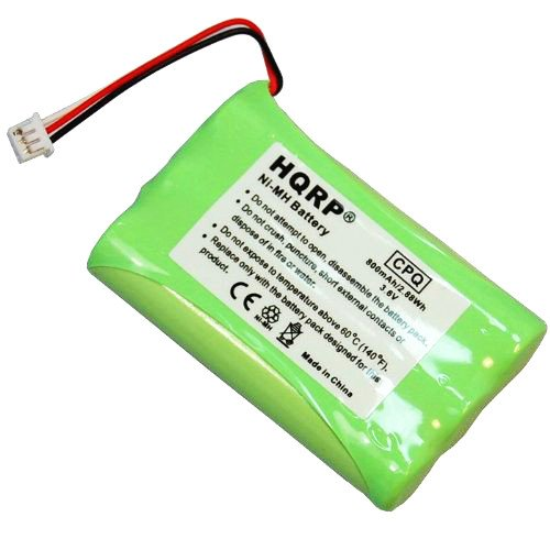 HQRP Battery for Plantronics CT11 CT12 63421-01 64376-01 Cordless Headset Phone