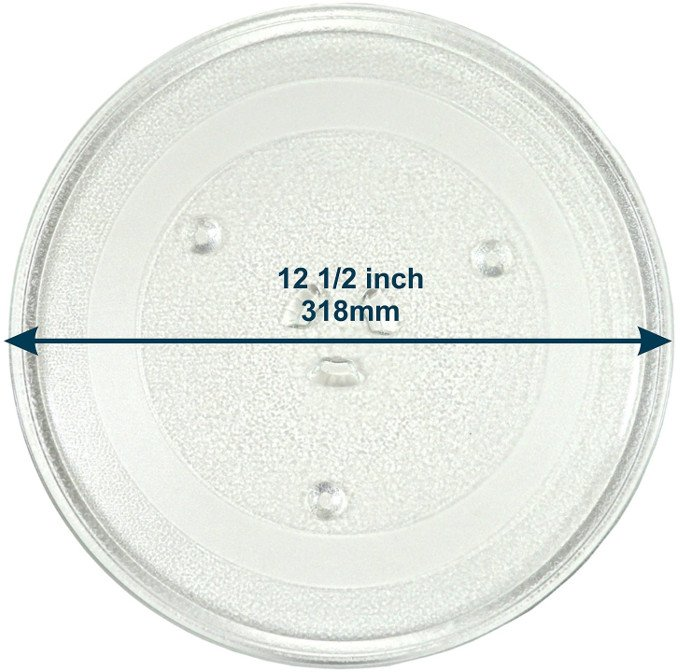 HQRP 12.5-inch Glass Turntable Tray for GE Microwave Oven Cooking Plate 318mm