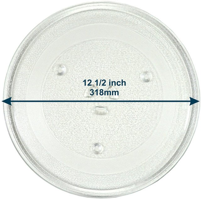 "HQRP 12.5"" Glass Turntable Tray for Electrolux Microwave Oven Cooking Plate"