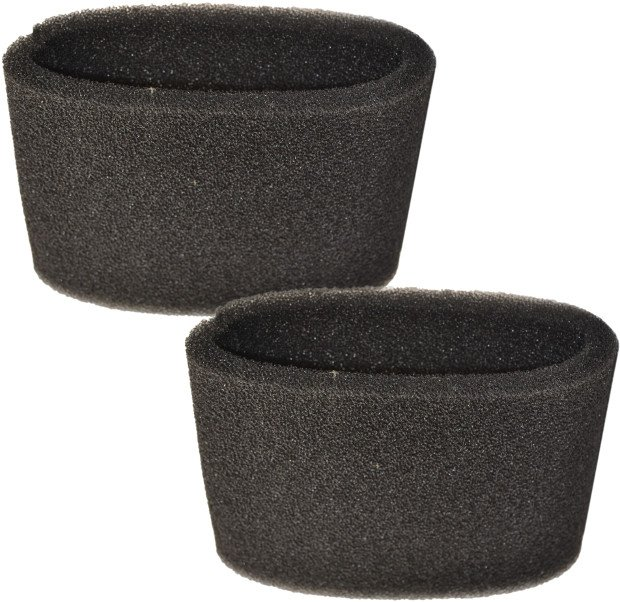 2-Pack HQRP Small Foam Filter Sleeves for Shop-Vac 9052600 / 90526 Type CC