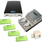 8x HQRP Batteries+Charger+AC USB Adapter+Power Bank for Hubsan Nano Q4 H111