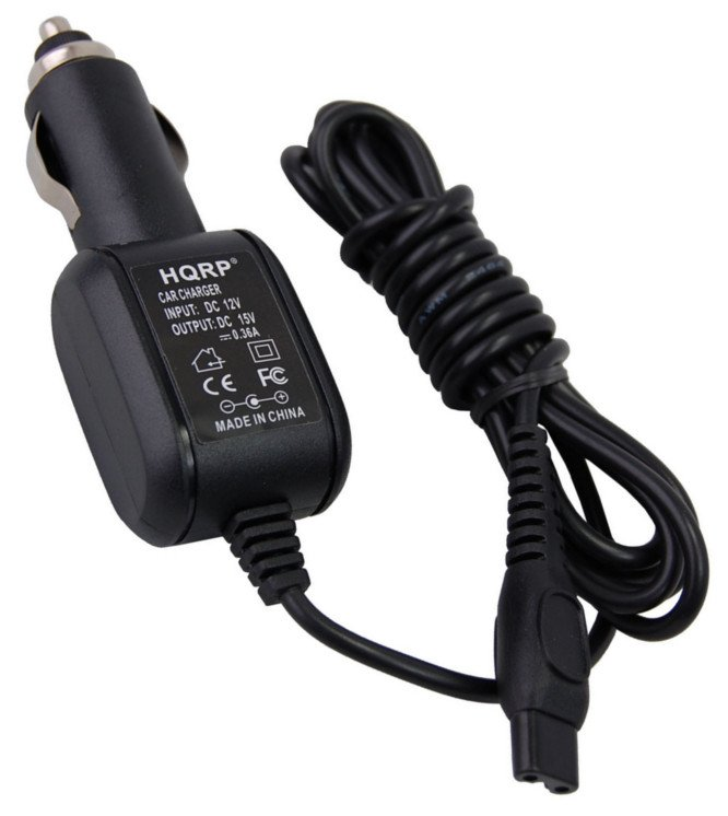 HQRP Car Charger for Philips Norelco HQ8500 HQ8010 HQ8000 CRP344 Replacement