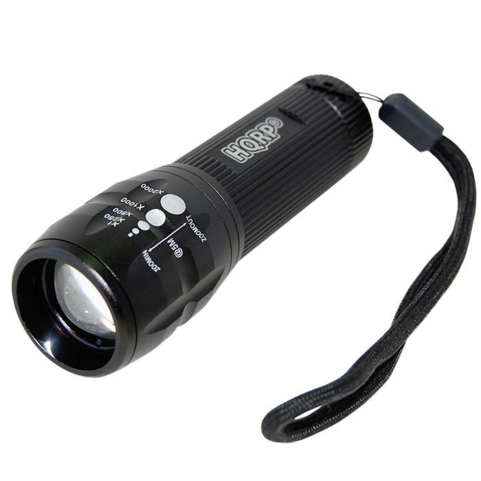 HQRP LED Blacklight Adjustable Focus Zoom + UV Protecting Googles Glasses