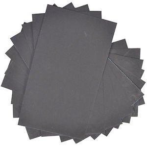 "10pcs HQRP 3"" x 5 1/2"" Wet Dry Sandpaper 1500 Grit Waterproof Silicone Carbide"