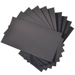 "HQRP 3"" x 5 1/2"" Wet Dry Sandpaper 600 Grit, Waterproof Silicone Carbide, 10pcs"