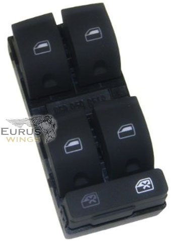 HQRP Power Window Switch for Audi A4 B6 / B7 / S4 / RS4 2002 2003 2004 2005