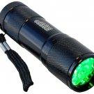 HQRP Hunting Green LED Aluminium Flashlight Torch Light Lamp