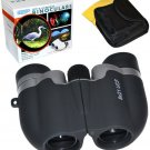 HQRP Compact 8x21 Black Telescope Binoculars + Bag for Travel Outdoor