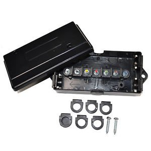 HQRP 7 Way / Pin RV Trailer Wire Cord Junction Box Color Coded Camper Truck
